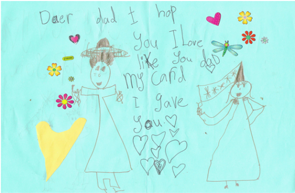 Card from my daughter