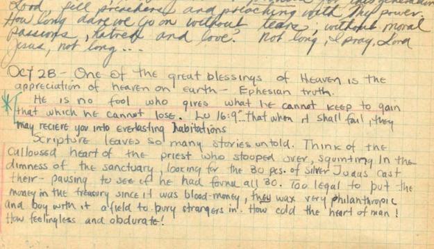 Jim Elliot diary