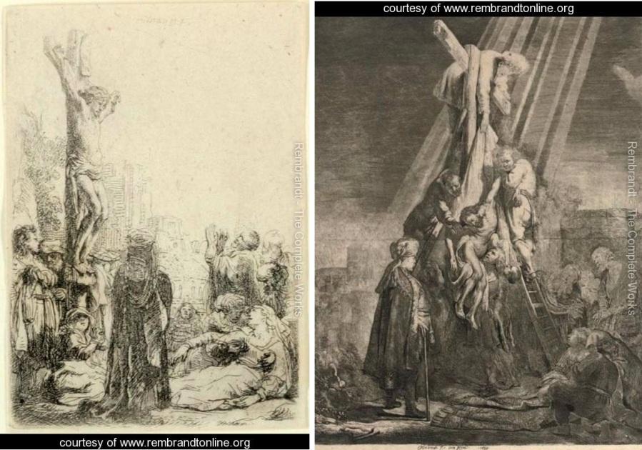 Rembrandt_Crucifixion 1600s