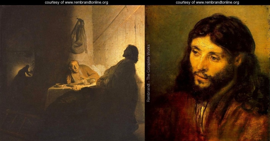 The-Supper-at-Emmaus---Alternate-title-Christ-at-Emmaus_Jesus of the Scars_Young Jewish Christ