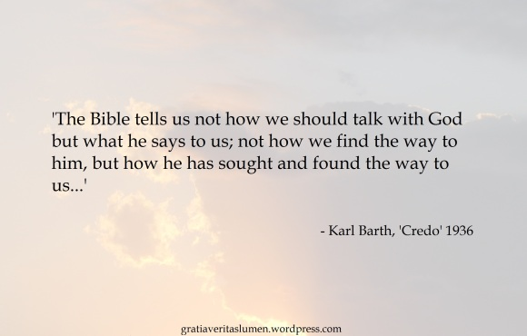 Barth Credo God makes his way to us