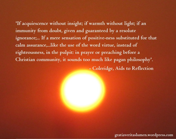 Coleridge quote Warmth with light