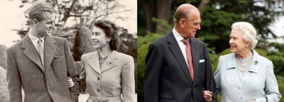 Queen and Prince Phillip3 collage