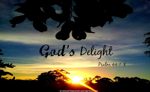 God's delight Psalm 44_1_8