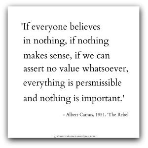 Camus 1951 quote