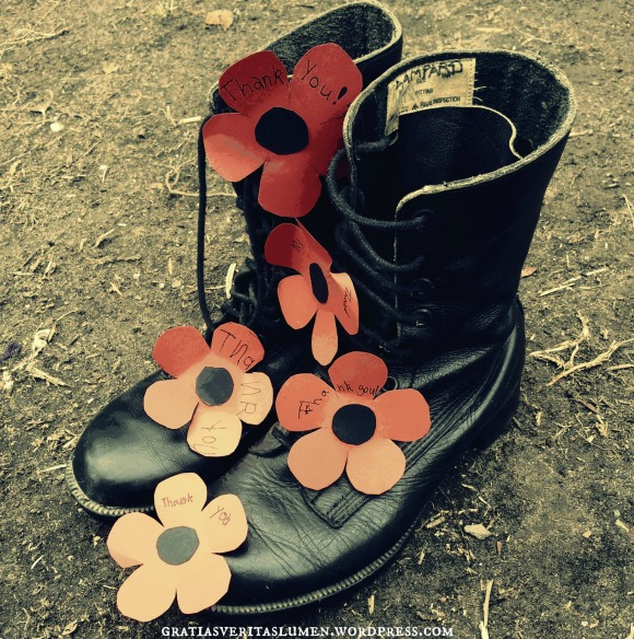 Rememberance Day 2014 Old Army Boots 2
