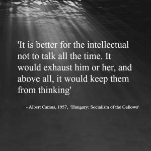 Albert Camus quote on Intellectuals