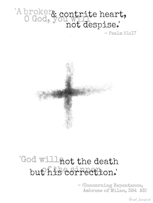 Cross Ash Wednesday Word Art